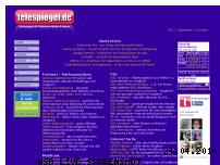 Informationen zur Webseite telespiegel.de