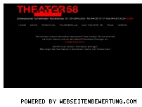 Ranking Webseite theater58.ch