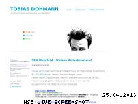 Ranking Webseite tobias-dohmann.de