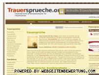 Ranking Webseite trauersprueche.org