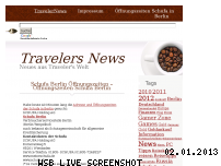 Informationen zur Webseite travelernews.org