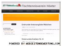 Ranking Webseite ttvhoexter.de