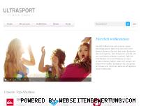 Ranking Webseite ultrasport.de