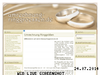 Informationen zur Webseite umrechnung-ringgroessen.de