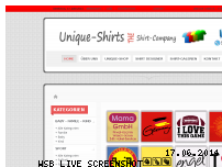 Ranking Webseite unique-shirts.de