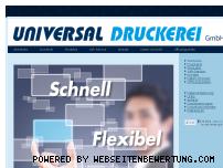 Ranking Webseite universaldruckerei.at