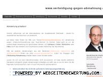Ranking Webseite verteidigung-gegen-abmahnung.de