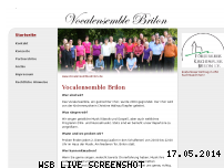 Informationen zur Webseite vocalensemble-brilon.de