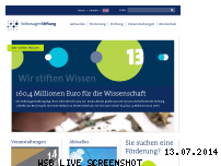 Ranking Webseite volkswagenstiftung.de