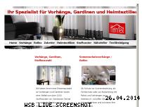 Informationen zur Webseite vorhang.ch