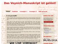 Informationen zur Webseite voynich-manuskript.de