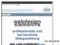 Informationen zur Webseite webdesign-klamonfra.de