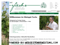 Informationen zur Webseite weingut-fuchs.de