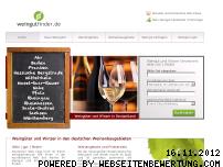 Ranking Webseite weingutfinder.de