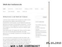 Ranking Webseite welt-der-indianer.de