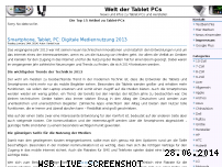 Ranking Webseite weltdertabletpcs.de
