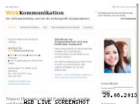 Informationen zur Webseite wirkkommunikation.de