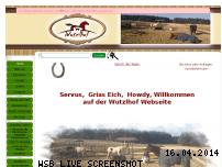 Informationen zur Webseite wutzlhof.de