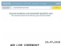 Ranking Webseite yazio.de