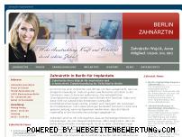 Ranking Webseite zahnaerztin-implantate-berlin.de