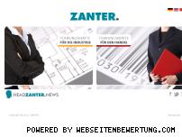 Informationen zur Webseite zanter.de