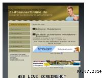 Informationen zur Webseite zeitbanneronline.de