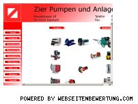 Informationen zur Webseite zier-anlagenbau.ch