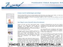 Ranking Webseite zuwax.de